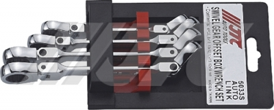 JTC-5033S SWIVEL GEAR OFFSET BOX WRENCH SET