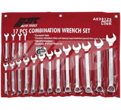 JTC-AE2417S COMBINATION WRENCH SETS (EURO-TYPE)